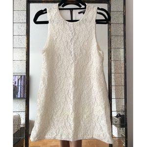 Naven White Lace Shift Dress